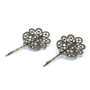 intage Gold Hairpin Set, Scroll